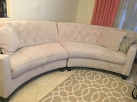 Two piece half moon Raymour & Flanigan sofa set Yonkers, 10710