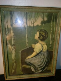 Very old print and frame