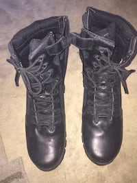 Black leather combat boots Occoquan, 22125
