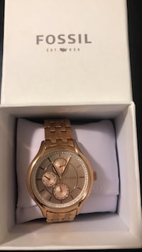 Female Fossil Watch- Rose Gold Toronto, M3A