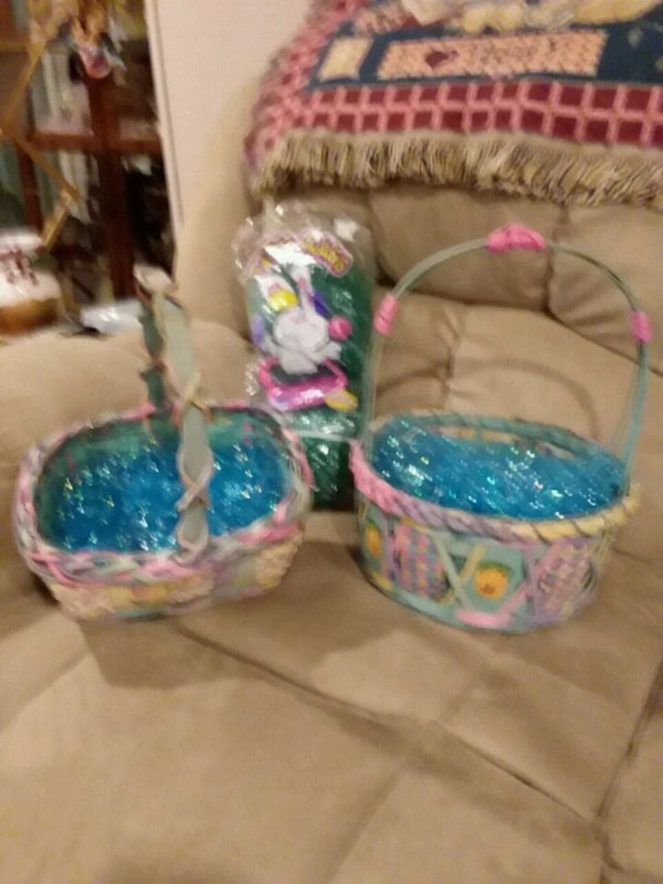 New --2 Beautiful Easter Baskets 0