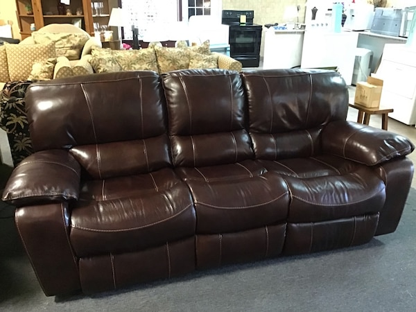 Magnificent Like New Cindy Crawford Home Giana Brown Leather Power Reclining Sofa Ibusinesslaw Wood Chair Design Ideas Ibusinesslaworg