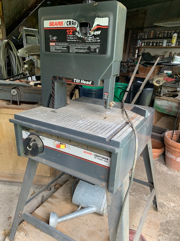 """12"""" SEARS CRAFTSMAN BAND SAW (melted face)"""