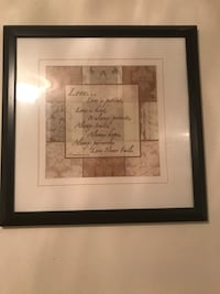 Love.. quoted decor with frame Chantilly, 20151