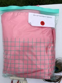 Pink cloth table cloth