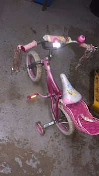 toddler's pink and white bicycle Westville, 46391