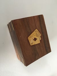 Store indya. handcrafted wooden triple deck playing cards