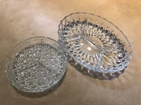 Crystal decorative serving dishes Coquitlam, V3E 2S8