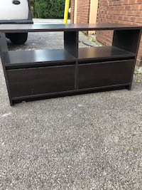Black wooden 3-layer tv stand Indianapolis, 46214