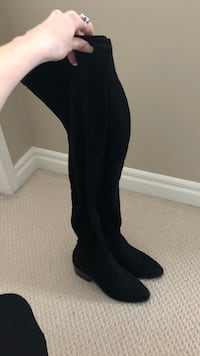 Steve Madden Thigh-high black suede boots - size 6 Calgary, T2Z 4Y7