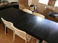 Ikea Bjursta Extending Table with chairs Vancouver, V6H 1H8