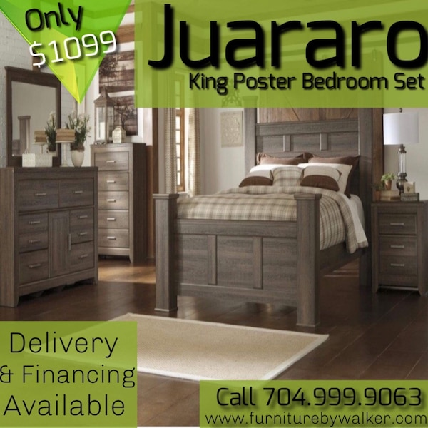 King poster bedroom set by Ashley juarao