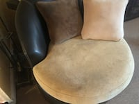 brown and black leather padded chair Baltimore, 21234