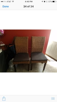 4 Wicker Chairs 60$ each New York, 11223