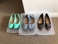 3 pair of women's size 8 Flats - $40 for all 3 or $15 each sold seperately Surrey