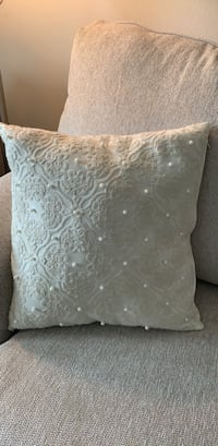 Faux pearl/ embroidered pillow  Mountain Brook, 35223