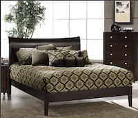 Expresso Queen Platform Bed Washington