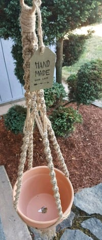 Handmade macrame with terra cotta pot