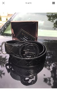 Black leather gucci belt with box Germantown, 20876