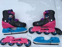 Pair of blue-and-pink inline/ roller skates Mississauga, L5M 2M6