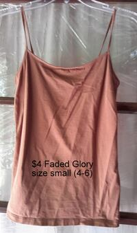 Ladies Small spaghetti strap tank beige Martinsburg, WV, USA