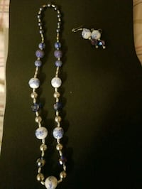 silver/blue/white beaded set 3 pc North Andover, 01845