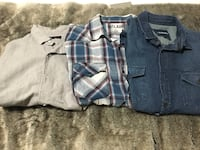 Men's Button Up long sleeve shirts Grande Prairie