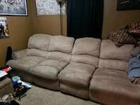 brown suede 5 piece sectional  Lincoln, 68521
