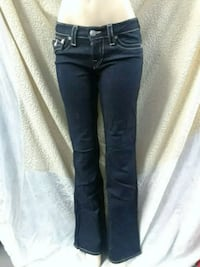 blue denim straight-cut jeans Washington