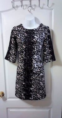 Black & White Print Dress: Size Small Toronto, M2N