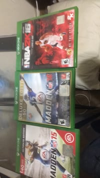 Madden 15, madden 16, and NBA 2k 16 Xbox one Rio Rancho, 87144