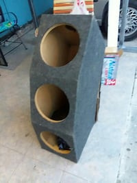 gray and brown subwoofer enclosure Brownsville, 78521
