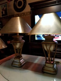 two brown wooden base table lamps Longueuil, J4K 4B5