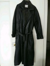 Men's leather long coat for very tall man size XL Toronto, M3C