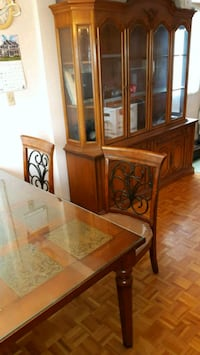 brown wooden dresser with mirror Laval, H7N 2Y4