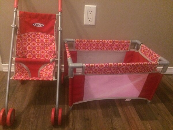Graco Doll playpen and stroller