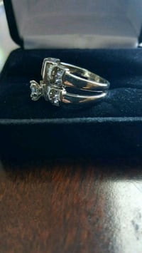 Rings silver with zirconia  Houston, 77073