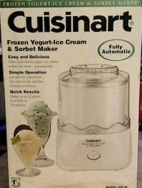 Cuisinart ice cream maker box Arlington, 22207
