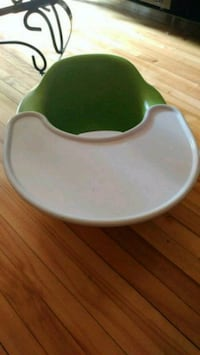 baby's green and white Bumbo floor seat Montréal, H4E 1A7