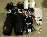 Full Set of Hockey Gear in Large ITECH Bag  3489 km