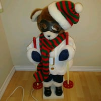 Preowned: animated christmas skiing teddy bear App Edmonton, T6X