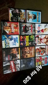 DVDs all for $12.