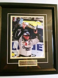 Framed Jimmie Johnsom Sprint Cup