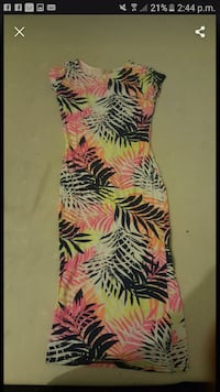 pink and black floral sleeveless dress Greater Manchester, BL8 1UR
