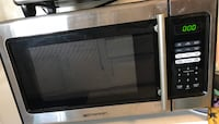 black and gray Emerson microwave oven Burbank