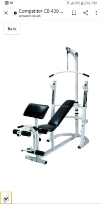 """IMPEX CB430 """"COMPETITOR""""- COMPLETE GYM SYSTEM+2*DUMBELLS+CYCLE PEDALS Weymouth, 02188"""