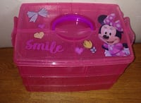 MINNIE MOUSE 3 LEVEL PENCIL CRAFTS STORAGE CONTAINER Derby, 67037