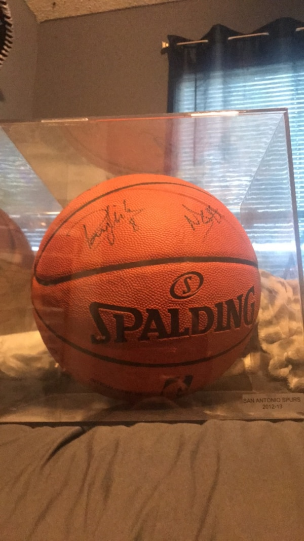 autographed basketball (multiple signatures)
