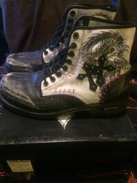 Skulls and Dragons Combat Boots by Affliction