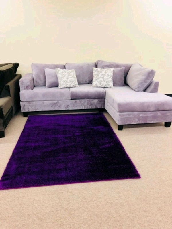Enjoyable Purple And White Sectional Couch Ibusinesslaw Wood Chair Design Ideas Ibusinesslaworg